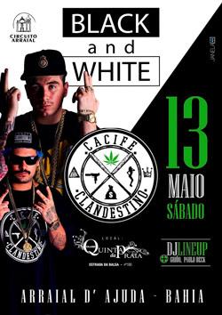 panfleto Festa Black and White - Cacife Clandestino