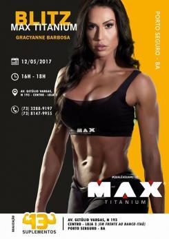 panfleto Blitz Max Titanium com Gracyanne Barbosa