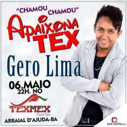 panfleto Apaixona TexMex - Gero Lima