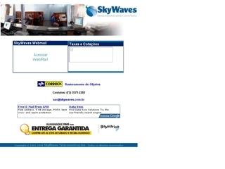 panfleto SkyWaves - Serviços de Telecomunicação