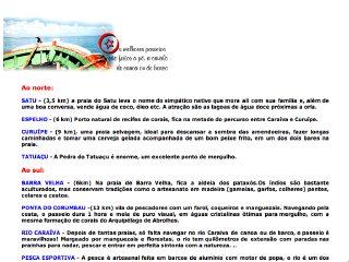 panfleto Caraíva Lazer