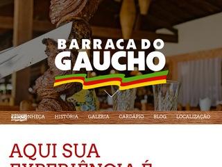 panfleto Barraca do Gaúcho