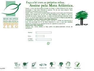 panfleto Desmatamento Zero