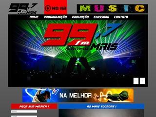 panfleto Rádio 99 FM - A Rádio +