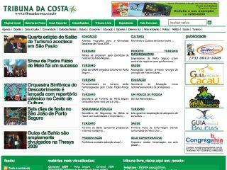 panfleto Tribuna da Costa - Porto Seguro - Bahia