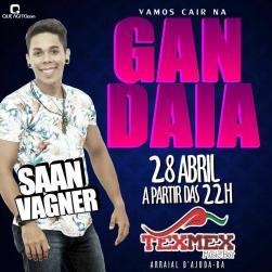 panfleto Gandaia com Saan Vagner