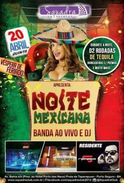 panfleto Noite Mexicana