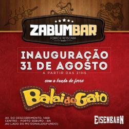 panfleto Inauguração do Zabumbar - Balai de Gato
