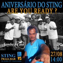 panfleto Niver do STING com Samba InCasa