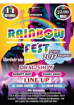 panfleto Rainbow Fest Porto Seguro 2017