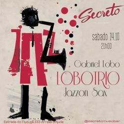 panfleto Gabriel Lobo Trio & Jazzon Sax