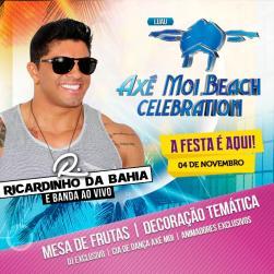 panfleto Axé Moi Beach Celebration