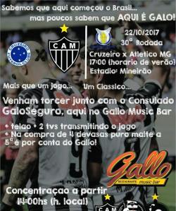 panfleto Cruzeiro x Atletico MG com o Consulado GaloSeguro