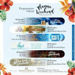 panfleto Mannu Weekend - Summer Opening