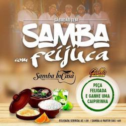 panfleto Feijoada com Samba InCasa