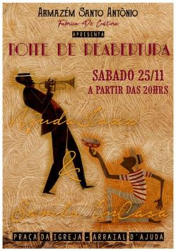 panfleto AjudaJazza + Vila Soul - Noite de reabertura