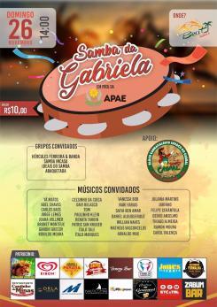 panfleto 8ª edição do Samba da Gabriela