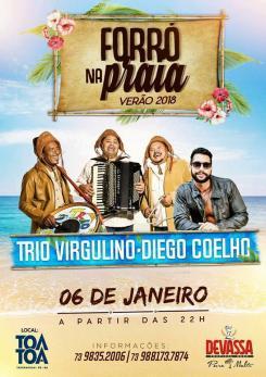 panfleto Trio Virgulino e Diego Coelho