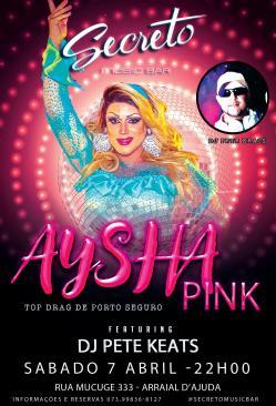 panfleto Electrosound com Aysha Pink