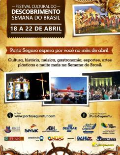 panfleto Festival Cultural do Descobrimento