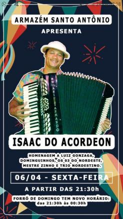 panfleto Isaac do Acordeon