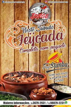 panfleto Feijoada com PagoSamba