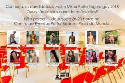 panfleto Concurso Miss e Mister Porto Seguro Gay 2018