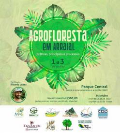 panfleto Curso de Agrofloresta