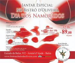 panfleto Jantar especial Dia dos Namorados