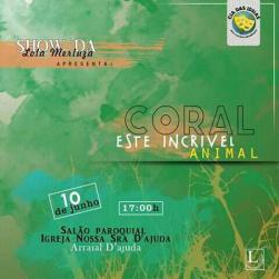 panfleto 'Coral este incrível animal'