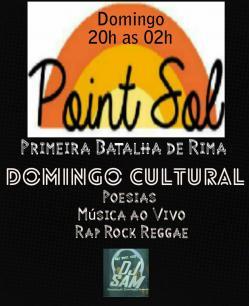 panfleto Domingo Cultural - Primeira batalha de Rima