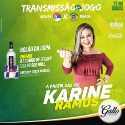panfleto Forró do Gallo 2018 - Brasil x Sérvia