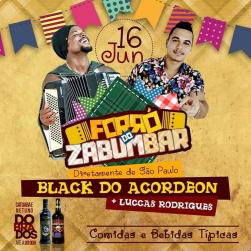 panfleto Forró do Zabumbar - Black do Acordeon + Luccas Rodrigues