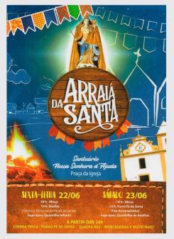 panfleto Arraiá da Santa