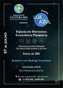 panfleto Lua Azul