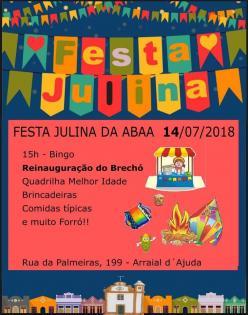 panfleto Festa Julina da ABAA