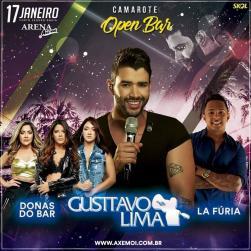 panfleto Gusttavo Lima + La Fúria + Donas do Bar