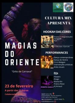 panfleto Magias do Oriente 'Grito de Carnaval'