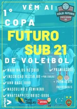 panfleto 1ª Copa Futuro Sub21 de Voleibal