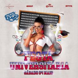 panfleto Festa Universitária