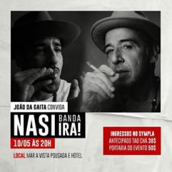 panfleto João da Gaita convida NASI do Ira!