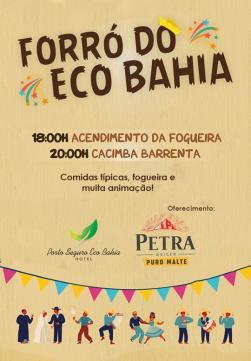 panfleto Forró do Eco Bahia