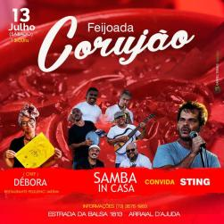 panfleto Samba InCasa feat. Sting + feijoada