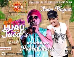 panfleto Luau Sued'S - Afrodísiaco + Saan Vagner
