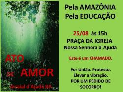 panfleto Ato pela Amazônia e pela Educação