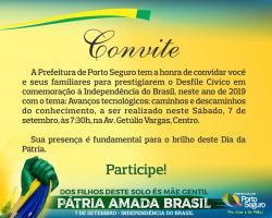 panfleto Desfile Cívico em comemoração à Independência do Brasil