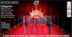 panfleto Concurso Miss & Mister Porto Seguro 2019