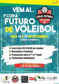 panfleto 1ª Copa Futuro de Voleibal