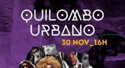 panfleto Quilombo Urbano - Show de encerramento do Abayomi Festival
