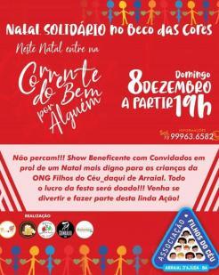 panfleto Natal Solidário